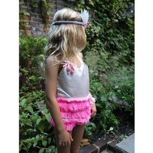 NWT WOVENPLAY Waterlily Pink Satin Tutu Size 3